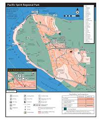 Pacific Spirit Regional Park Trail Map showing dog trail designations