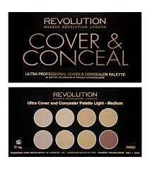 makeup revolution ultra cover and concealer palette light um