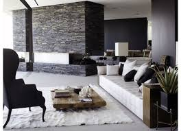 captivating living room design tufted. Furniture Inspirations | : Stacked Stones Wall Panels With Reclaimed Low Wood Coffee Tables And Simple Captivating Living Room Design Tufted N