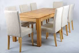 oak extending dining table and fabric chairs set ivory extending dining table and chairs ikea