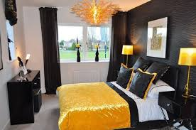 Black And Gold Bedroom Decorating Ideas Contemporary Remarkable ...