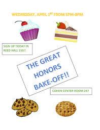 bake off flyer