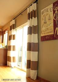 red striped curtains incredible tan and white horizontal striped curtains designed with rectangle slide glass door