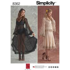 Costume Sewing Patterns Extraordinary Misses Lace Blouse And Skirt Costumes Simplicity Sewing Pattern 48