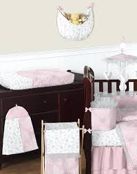 erfly pink grey ruffle damask couture baby girls fancy crib bedding set gray sets boutique elephant