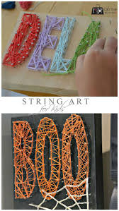 Any season, any reason #craft that the kids can make too - #stringart