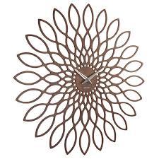 karlsson wood sunflower clock  wooden decorative wall clock
