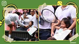 Novak Djokovic gives racquet to young ...