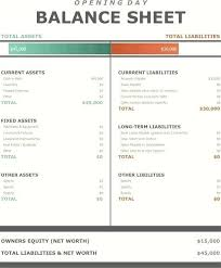 Opening Balance Sheet Template Excel India Day For