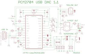 usb audio dac pcm2704 schematics diagram
