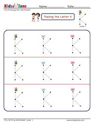 pre letter k tracing worksheet