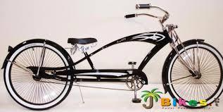 micargi puma gts stretch chopper beach cruiser bike black