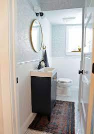 bungalow half bathroom with a diy
