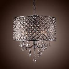 drum style modern chandelier crystal decoration 4 lights pendant ceiling lamp chandeliers drum pendant lighting decorating