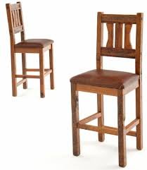 mission style bar stools. Simple Style Salvaged Barnwood Bar Stools With Leather Seats For Mission Style M