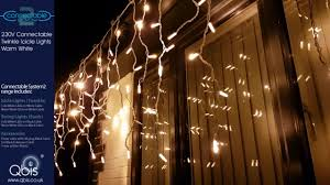 Connectable Icicle Lights Outdoor Qbis Warm White Twinkle Icicle Lights System2 Professional