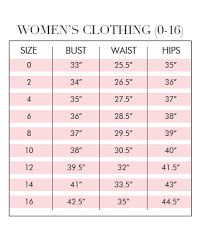 Alice Mccall Size Chart Sizing Guide By Brand Dress For A Night