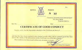 How to apply for eCitizen good conduct certificate in Kenya