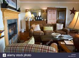 Lounge Living Room Cozy Guest Lounge And Living Room In The Saratoga Inn In The Town