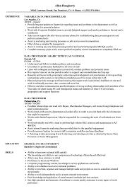Data Processor Resume Samples Velvet Jobs