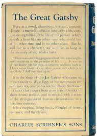 the gatsby index lapham s quarterly back cover of the first edition of the great gatsby