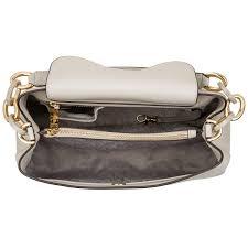 handtasche michael kors portia large saffiano leather shoulder bag cement