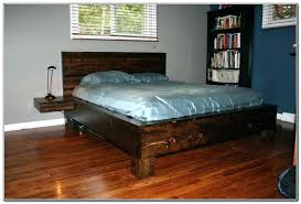 diy king platform bed. Diy King Platform Bed Frame Reclaimed Wood  Size