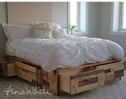 brandy s wood storage bed with drawers