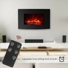 fireplace ikayaa mount electric fireplace remote control adjustable l1600 secured powered by verisign parts of mantel