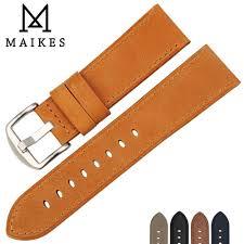 <b>MAIKES</b> Genuine Leather Watchband Watch Accessories Strap ...