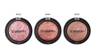 elianto baked blusher consists of multiple shades baked together in a single pan sheer and lightweight upon application it creates natural hues with a