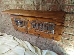 Harley Davidson Coat Rack Gorgeous Wooden Coatrack With HarleyDavidson Metal Lettering Catawiki