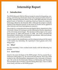 Internship Report Sample Simple 44 Internship Reports Samples Pulsefitseattle