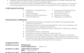 Free Phlebotomist Resume Templates Resume Template Phlebotomist Examples Job Objective Free 29