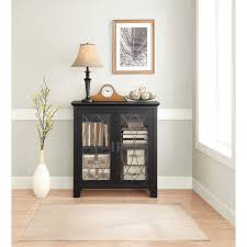 whalen dining and accent storage cabinet charcoal black finish com