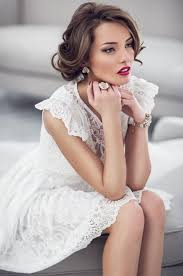 makeup ideas with white dress 1 full size image