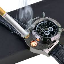USB <b>Charging</b> Lighter <b>Watch</b> Flameless <b>Windproof</b> Cigarette ...