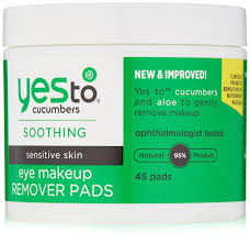 amazon yes to cubers eye makeup remover pads 45 count cleansing pads beauty