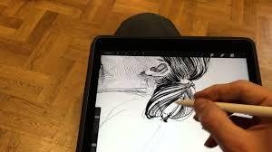 Drawing On Ipad Pro Portrait Drawing Ipad Pro Rysowanie Portretu
