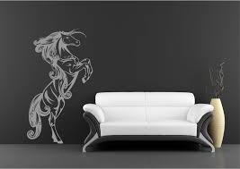 wild horse standing galloping wall art sticker decal  on wild horses wall art with wild horse standing galloping wall art sticker decal mural stencil