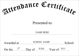 Resume Responsibilities Certificate Of Attendance Sample Resume