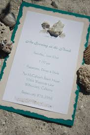 beach themed wedding invitations do it yourself