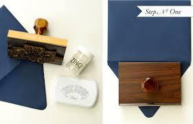 rubber stamp embossed custom stationery