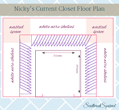 a birds eye view of small walk in closet from teredsquirrel