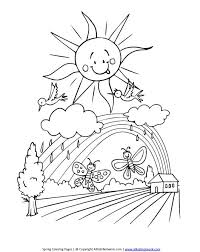 Spring Season 251 Nature Printable Coloring Pages