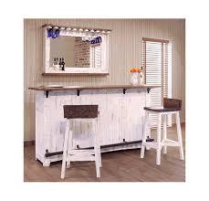 white rustic bar stools. Contemporary Rustic Puebla Rustic White Wash Bar U0026 Stools Set With B