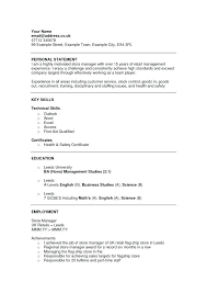 Resume Personal Statement Magnificent Example Of Personal Statement For Resume Personal Statement Resume