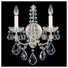 crystal schonbek new orleans collection 2 light crystal wall sconce
