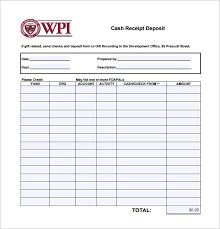 Deposit Templates 21 Deposit Receipt Templates Doc Excel Pdf Free