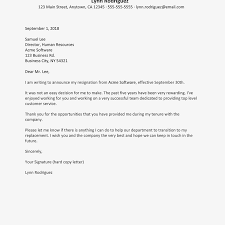 Examples Of Letter Of Intent Best Resignation Letter Format In Email Of Sample Job